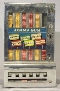 adams gum vending machine