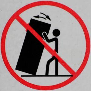 do not shake vending machine
